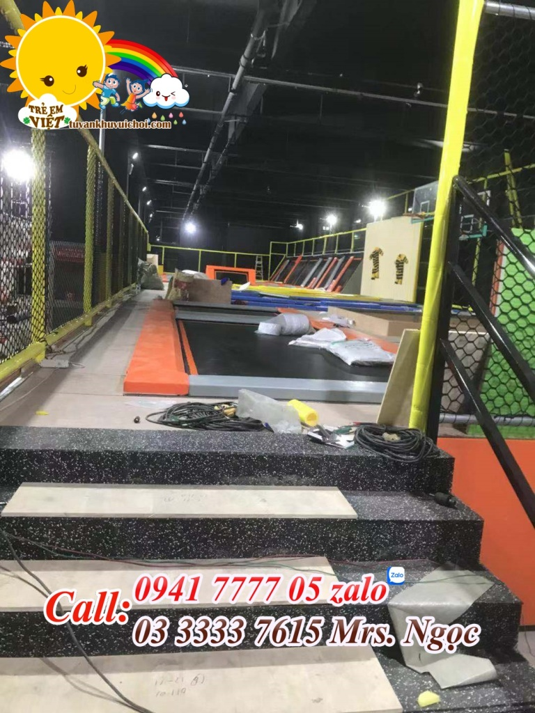 Lắp đặt khu trampoline