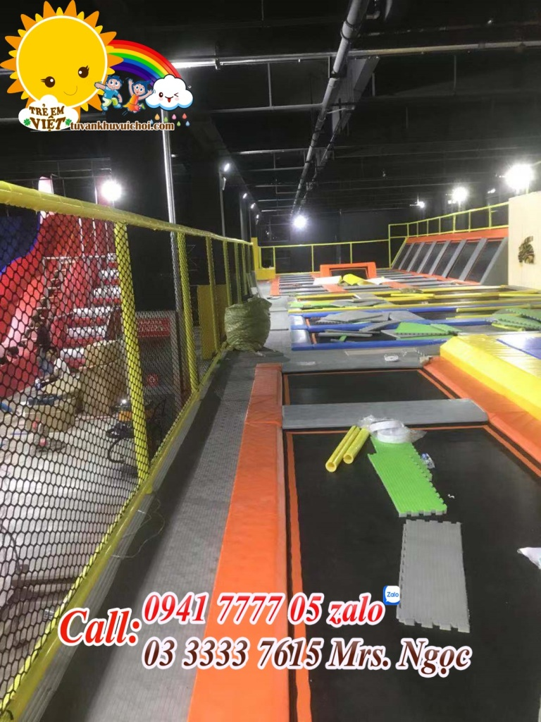 Thi Công khu trampoline park